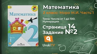 Страница 14 Задание 2 – Математика 2 класс (Моро) Часть 1
