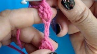 Вязание крючком - Урок 176 - Шнур шишечки 3 способ