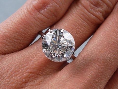 5.43 ct Round Brilliant Cut H SI2 Diamond Solitaire Engagement Ring - BigDiamondsUSA