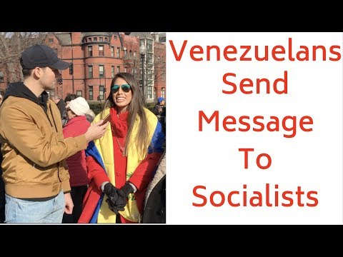 Venezuelans Send Message To Americans Who Want Socialism