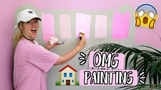 Painting my house PINK?! AlishaMarieVlogs