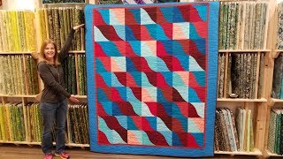 Fear Not Curved Patchwork! Wave Runner Quilt Tutorial