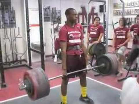 Brandon Marshall Deadlifting