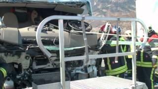 2012.03.14 désincarceration d'un camion sur autoroute A9