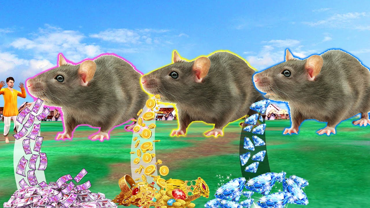 जादूई तीन चूहा  Magical Jadui Teen Rat Comedy Video हिंदी कहानियां Hindi Kahaniya Hindi stories