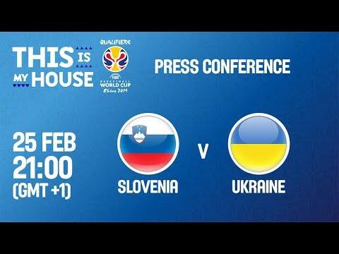 Slovenia v Ukraine - Press Conference