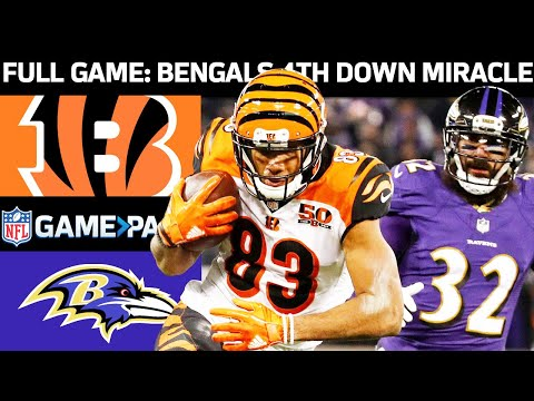 Bengals vs. Ravens Week 17, 2017 FULL Game: The Bengals 4th Down Miracle!