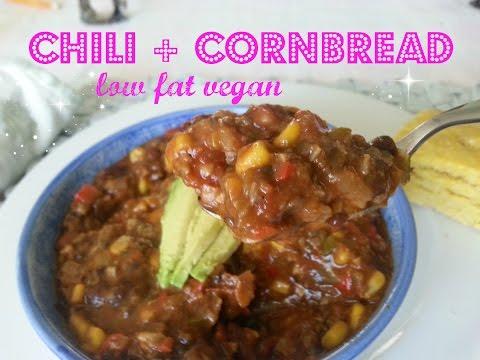 MOM'S FAT FREE VEGAN CHILI AND CORNBREAD