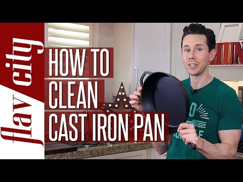 The Easiest Cast Iron Skillet Cleaning – Season Your Cast Iron Skillet