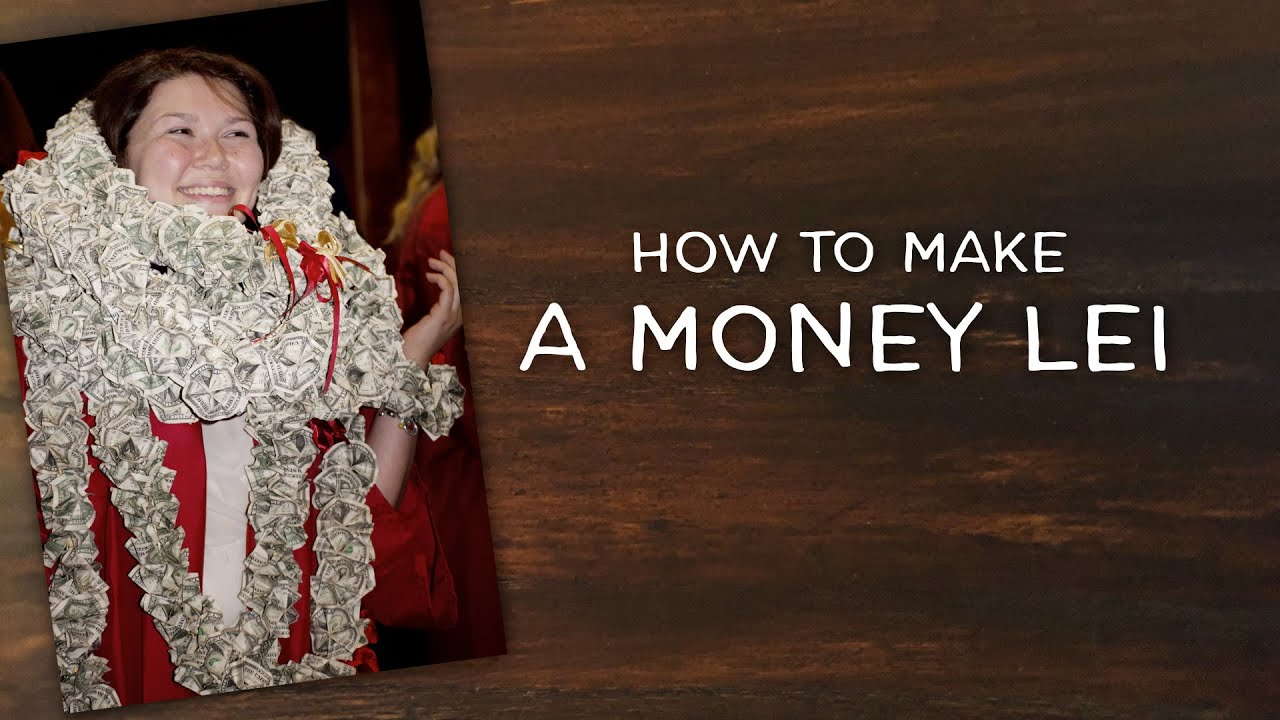 Diy money lei for graduation and weddings youtube for Diy to make money