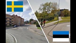 Швеция и Эстония. Сравнение. Katrineholm - Keila. Sweden - Estonia. Sverige - Eesti