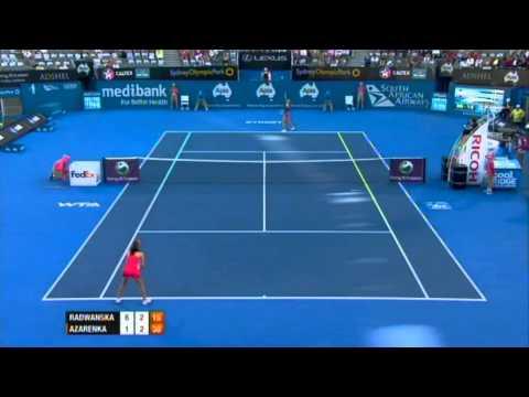 A. Radwanska v V. Azarenka Highlights Women's Singles Semi Final: Sydney International 2012