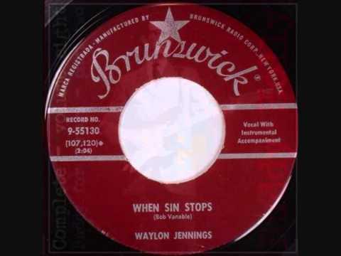WAYLON JENNINGS  When Sin Stops (A side)  &  Jole Blon (B side) mp3