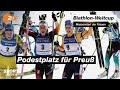 Rang 3 für Preuß beim Massenstart des Biathlon-Weltcups in Nove Mesto | SPORTextra - ZDF