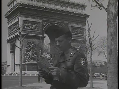 """Soldier in France"" 1955 U.S. Army Film (clip)"