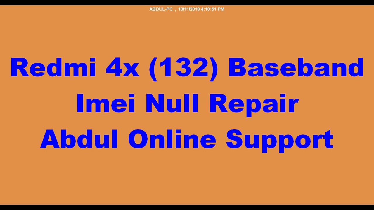 Redmi 4x (mi132) Baseband Imei Repair Esy Way Done By Softichnic