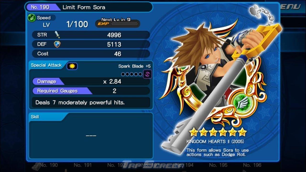 Kingdom Hearts Unchained X: Limit Form Sora & KH II King Mickey ...