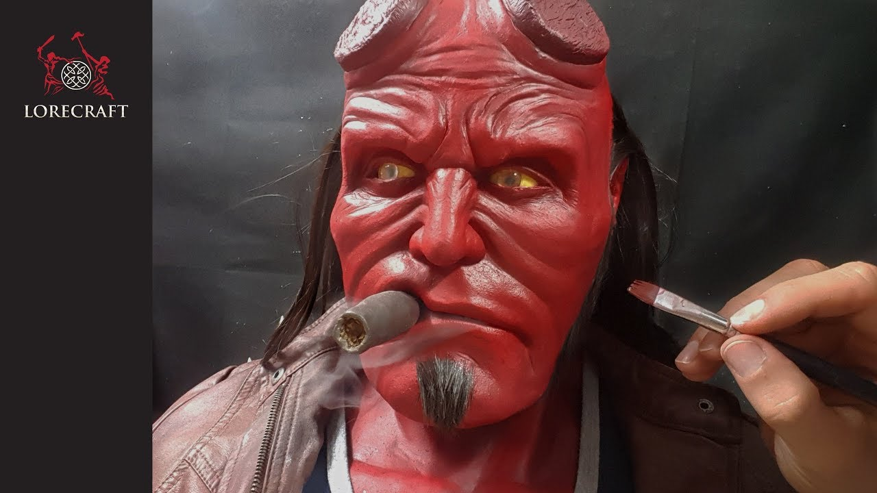 Hellboy Sculpture Timelapse - hand sculpted, lifesize bust