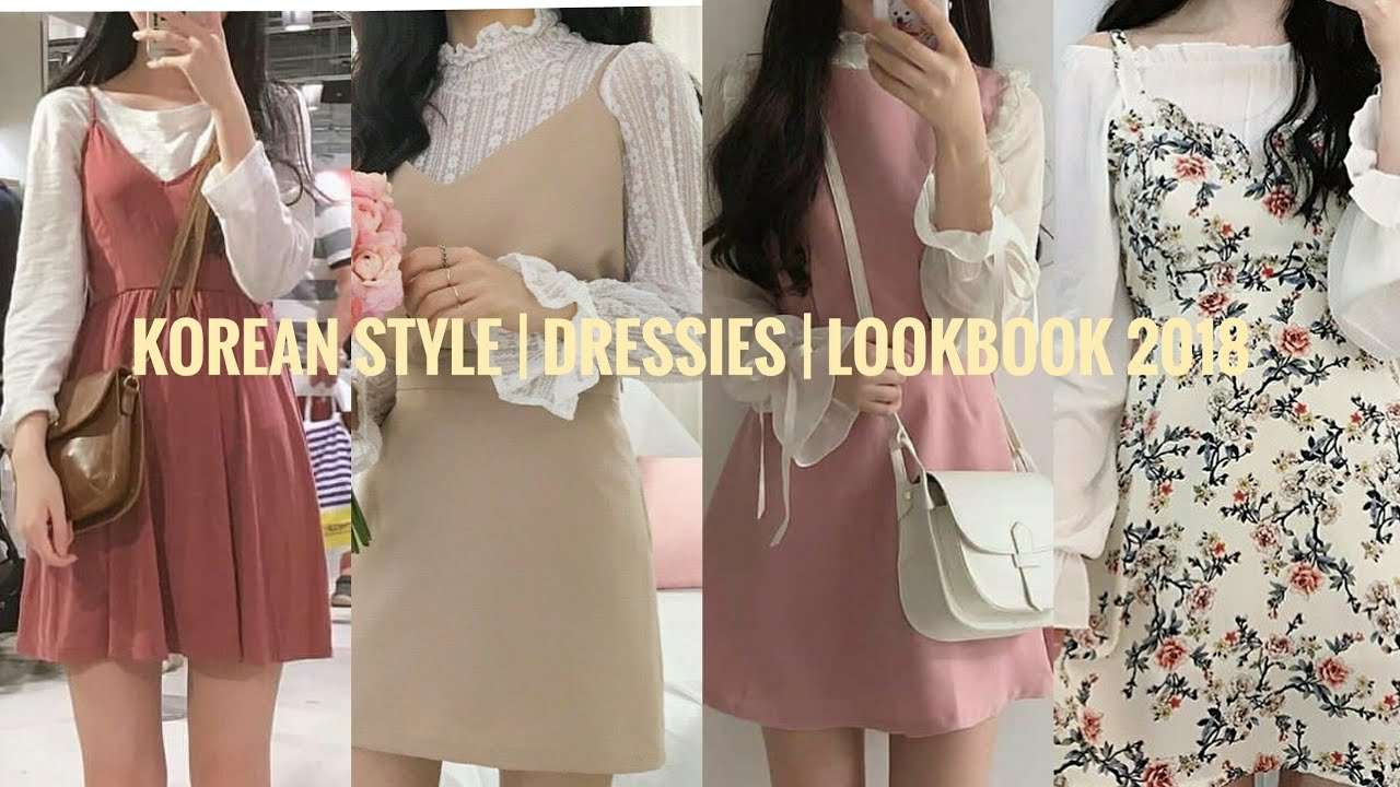 KOREAN STYLE  CUTE DRESS FASHION  LOOK BOOK 8