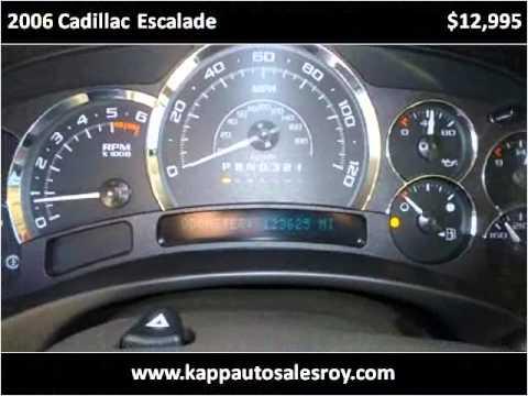 Kapp Auto Sales Roy >> 2006 Cadillac Escalade Used Cars Roy UT - YouTube
