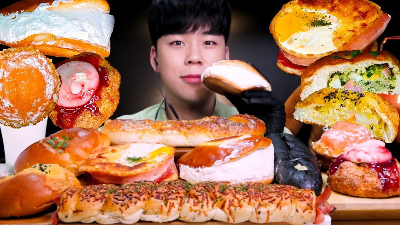전주 맘스브레드 크림빵 스콘 여러가지 빵 먹방 디저트 리얼사운드パンモッパン BREAD DESSERT MUKBANG ASMR