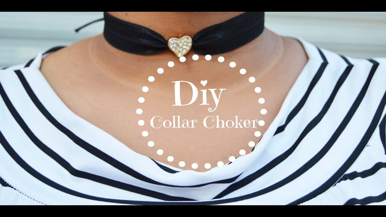 DIY TENDENCIA/ Collar CHOKER super facil.