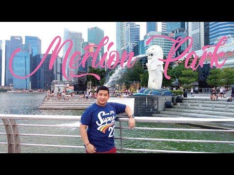 Marina Bay Area Singapore - Merlion Park - Southeast Asia Tour