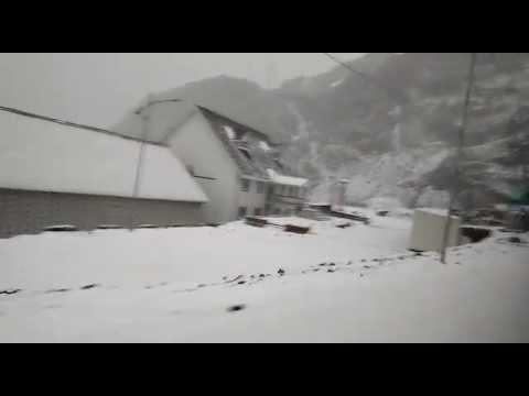 Heavy snowfall at Nathu La Pass,Indo-China border,Sikkim