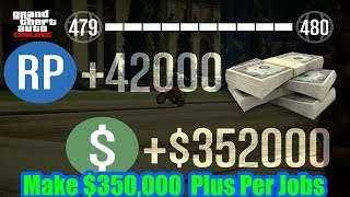 Makes $350,000+ Plus With 42,000 RP Per Jobs In No Time and Make Millions a days in GTA 5 Online