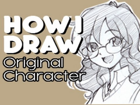 How I Draw Anime Manga Girl Glasses Messy Curly Hair Original Character