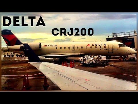 Delta Connection CRJ-200, Atlanta To South Bend, Economy Class