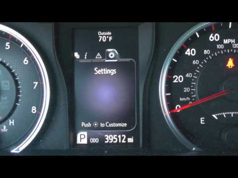 2016 Toyota Camry Instrument Cluster Video Screen Options