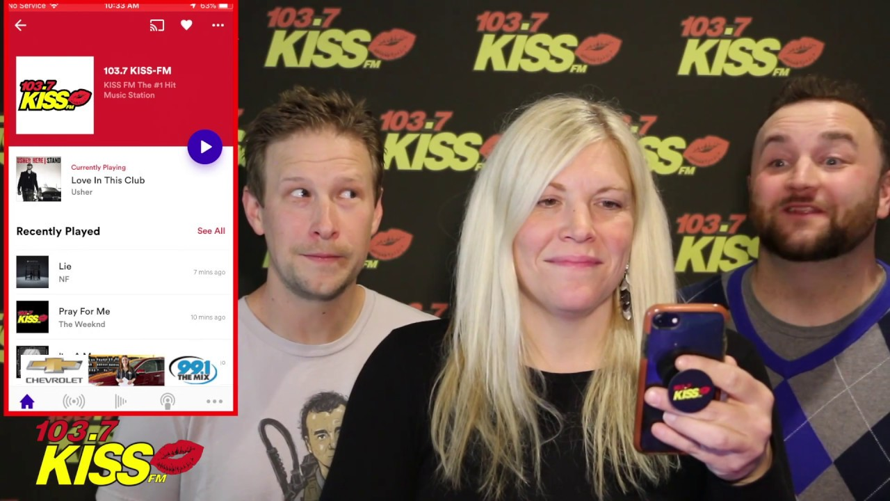 How To Download The Radio Com App With 103 7 Kiss Fm Youtube