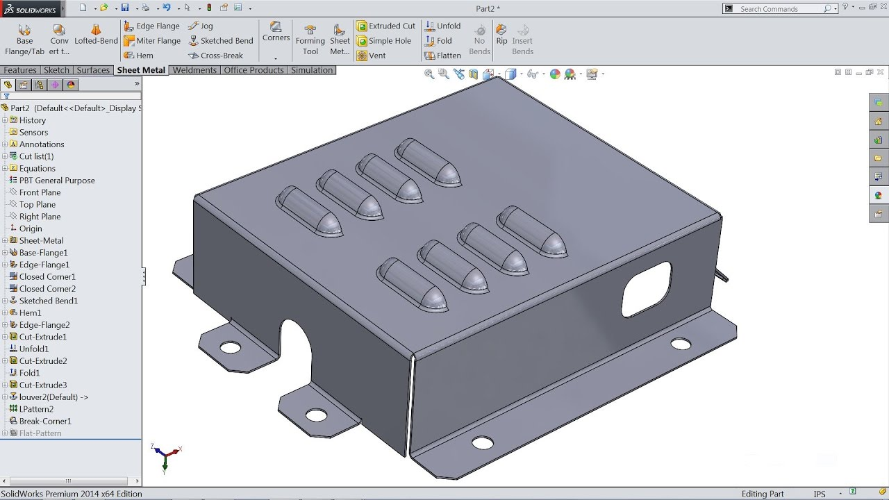 Solidworks Sheet Metal Tutorial Youtube