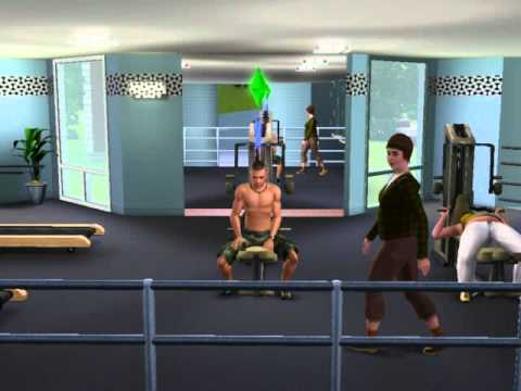 John cena in sims 3 very short videos in the gym youtube - John cena gym image ...