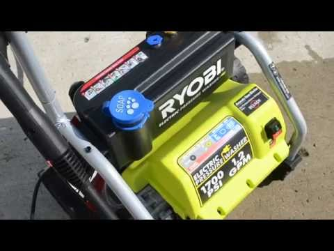 Ryobi 1700 PSI 1.2 GPM Electic Pressure Power Washer Quick Review.
