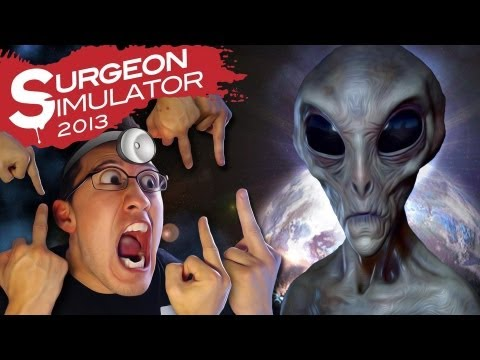 Surgeon Simulator 2013 Space Update (ALIEN SURGERY) | MOST DRAMATIC ENDING EVER