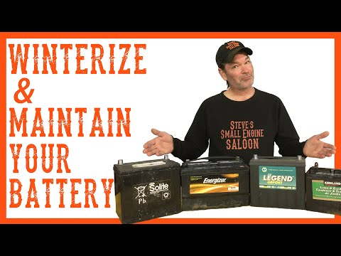How To Winterize And Maintain The Battery On A Riding LawnMower Tractor - Video