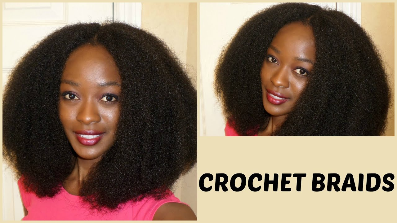 Natural Hair Styles With Marley Hair: Natural Looking Crochet Braids With Cuban Twist Hair (4b