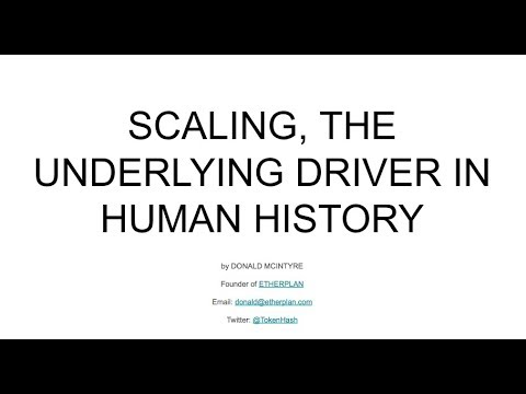 Scaling is the Underlying Driver in Human History