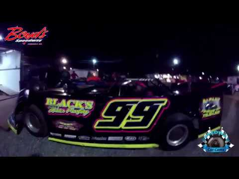 #99 Matt Thompson - Sportsman Late Model - 3-18-17 Boyd's Speedway - Dirt In-Car Camera