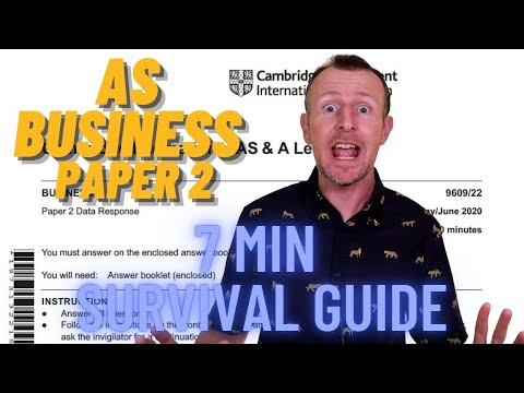 AS Business Paper 2 - 7 Minute Survival Guide Cambridge International Business A-level 9609