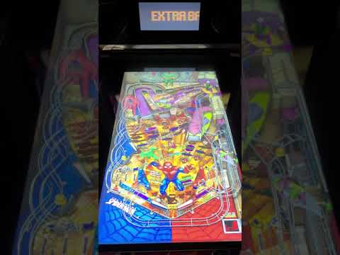 Arcade1up Pinball Spiderman Gameplay from Kevin F