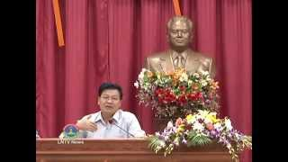 Lao News on LNTV: DM &  Minister of Foreign Affairs says Asean, a united community,25/8/2014