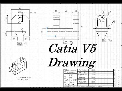 catia v5 drawing tutorial youtube. Black Bedroom Furniture Sets. Home Design Ideas