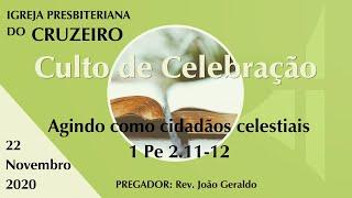 Agindo como cidadãos celestiais - 1 Pe 2.11-12