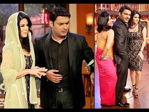 Sunny Leone Makes Kapil Sharma Go 'Hot' On Comedy Nights With Kapil.