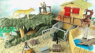Schleich WildLife Crocodile Jungle 42350 - Jungle Playset With Animals~ Dinosaur toys Plus~