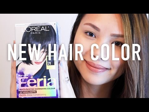 Loreal Feria Starry Night 21 Bright Black Demo Review