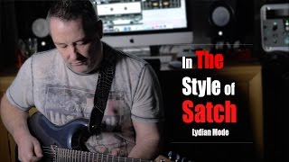 in the style of joe satriani.  (lydian mode.)